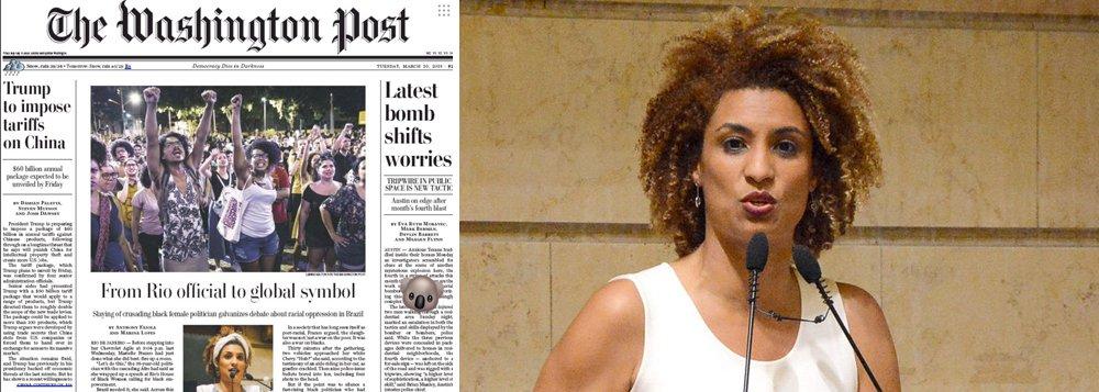 Washington Post: Marielle vira símbolo global na luta contra a violência