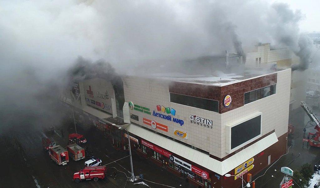 Incêndio em shopping na Sibéria provoca mais de 50 mortes