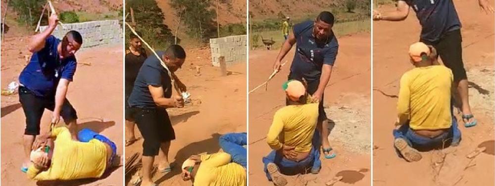 Homens são presos por torturar trabalhador com relho; vídeo chocou a internet