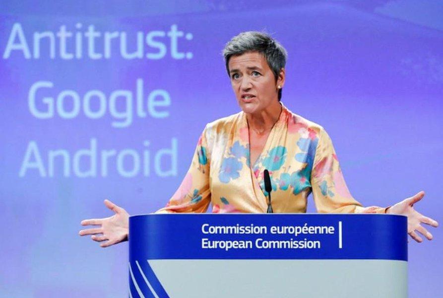 UE multa Google em US$5 bilhões em processo antitruste