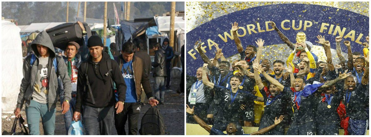 Os grandes vitoriosos da Copa são os refugiados