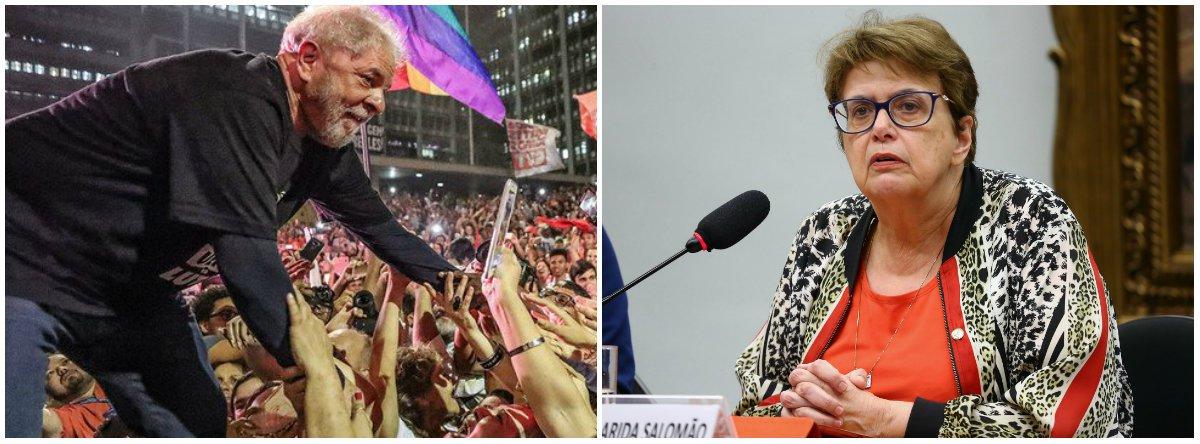 Nos 100 dias da prisão de Lula, Margarida Salomão atesta: ele é inocente