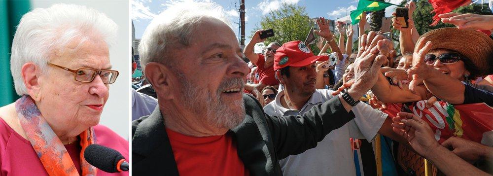 Erundina: enquanto bandidos estão soltos, Lula está preso
