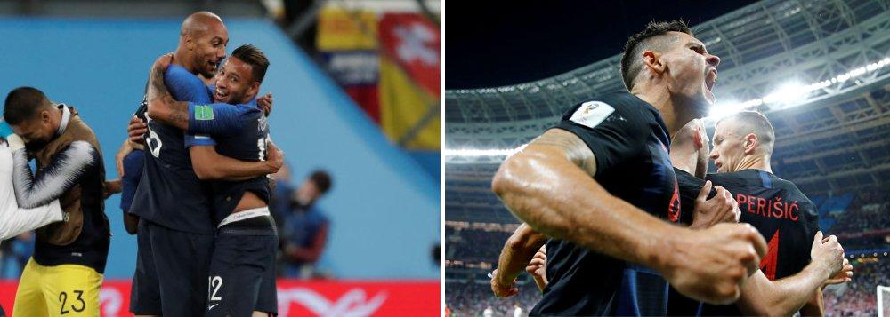 França e Croácia disputam final inédita na Copa do Mundo