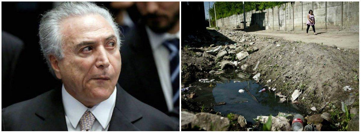 CUT: Temer quer fazer o povo pagar pela limpeza urbana nas contas de água