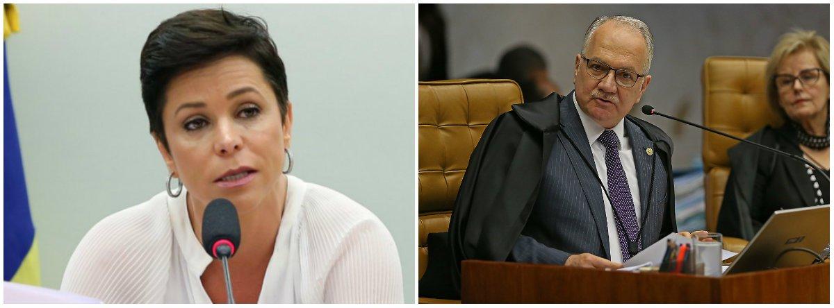 """No WhatsApp, Cristiane Brasil chama Fachin de """"vagabundo"""""""