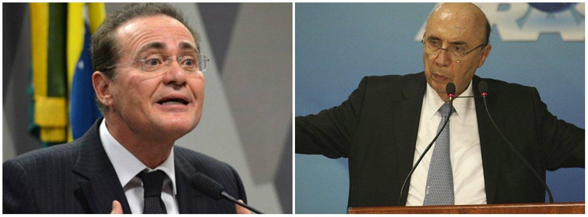 Renan abre dissidência no MDB contra Meirelles