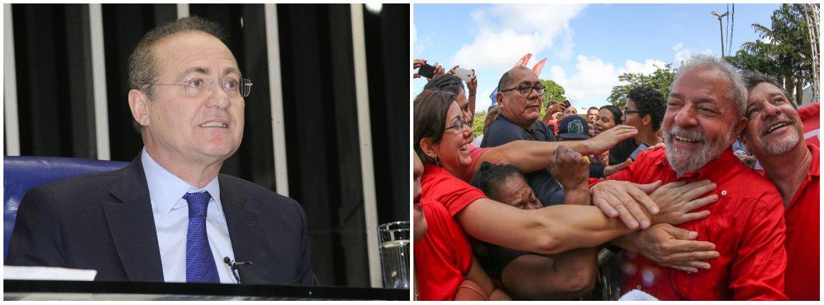 Renan: mais do que nunca Lula é um preso político