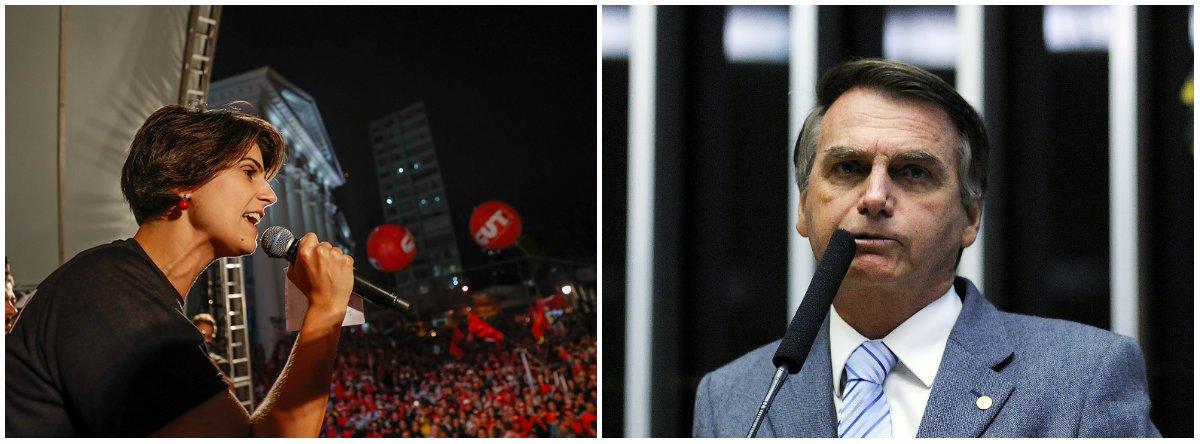 Manuela: Bolsonaro usa termo racista até na hora de dizer que não é