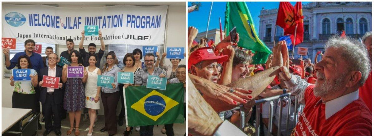 No Japão, sindicalistas da CUT denunciam prisão política de Lula