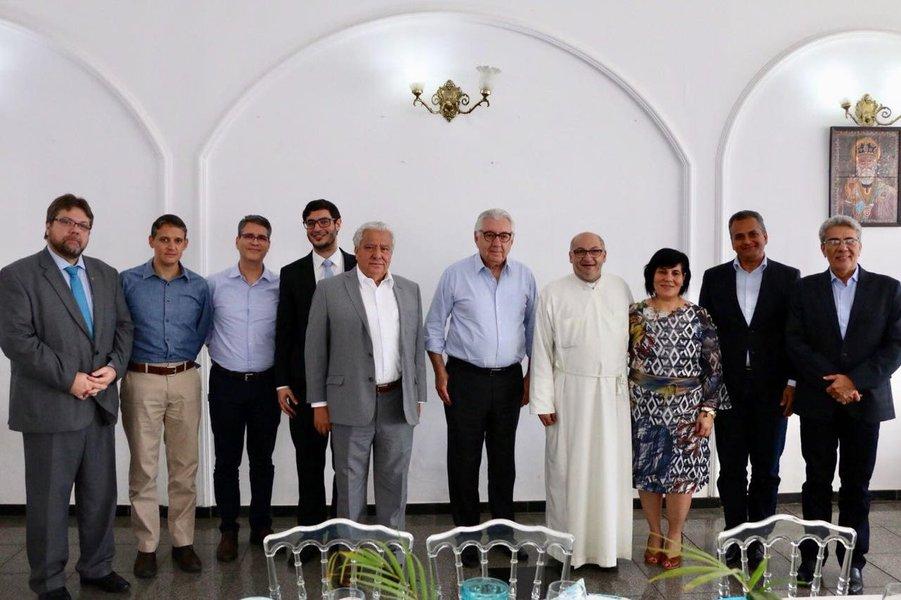 Francisco Jr. e comitiva do PSD recepcionam Afif em Goiânia