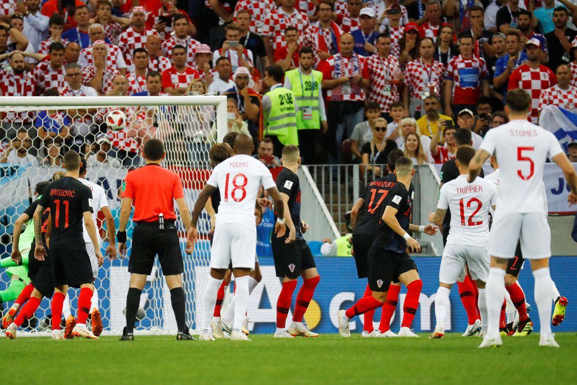 Em partida épica, Croácia bate Inglaterra e faz sua primeira final