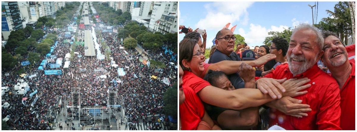 Argentinos unem o grito pela Independência Nacional com Lula Livre Já!