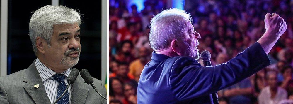 Manutenção de Lula na prisão afronta a Constituição, diz Humberto