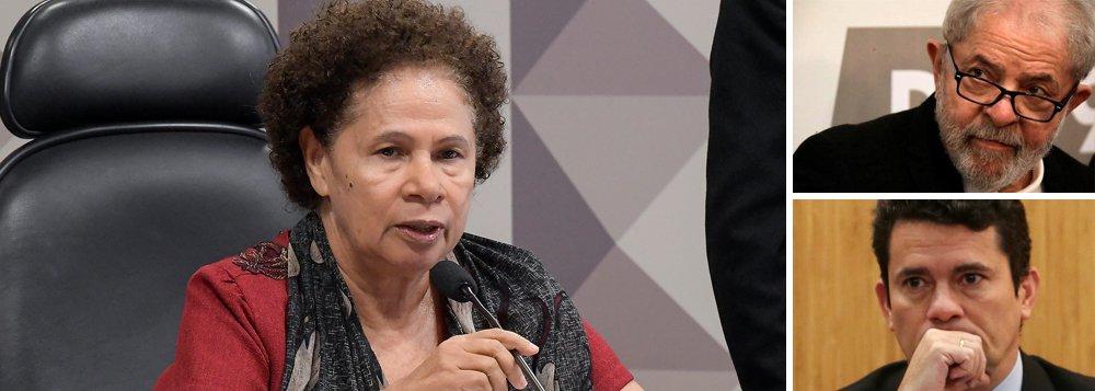 Vida de Lula está nas mãos de Moro, diz Regina Sousa