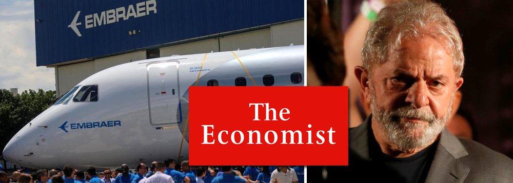 Nem The Economist apoia venda da Embraer e diz que Lula presidente vetará