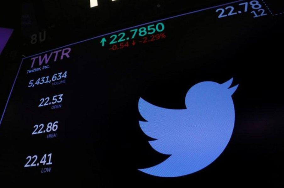 Ações do Twitter recuam após notícia sobre suspensão de contas