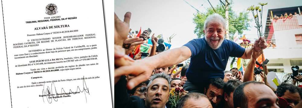 Lula Livre neste domingo! Desembargador do TRF-4 manda soltar ex-presidente