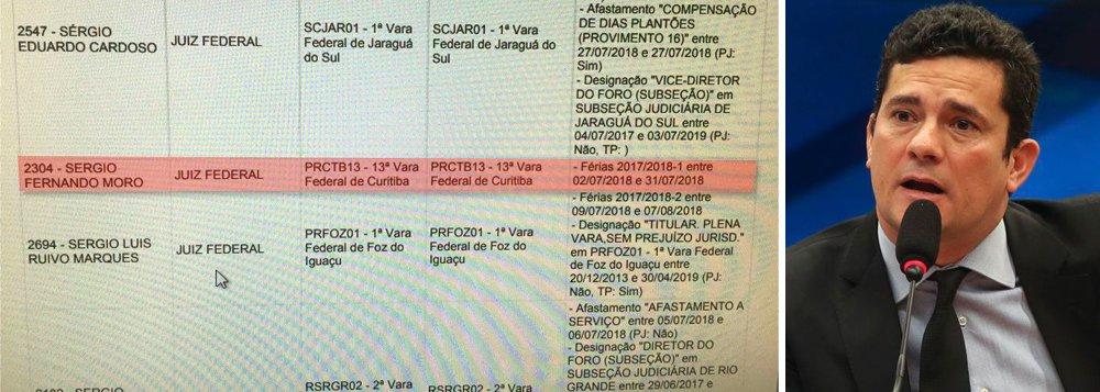 Moro afrontou decisão de soltar Lula estando de férias em Portugal