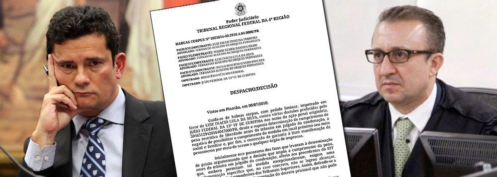 Moro desobedece TRF-4 e não solta Lula