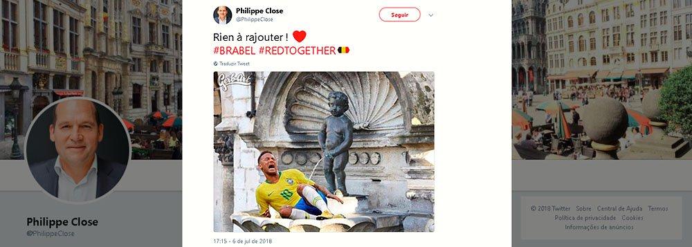 Prefeito de Bruxelas agride Neymar nas redes