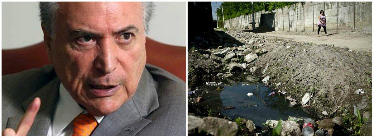 Temer assina MP que privatiza o saneamento