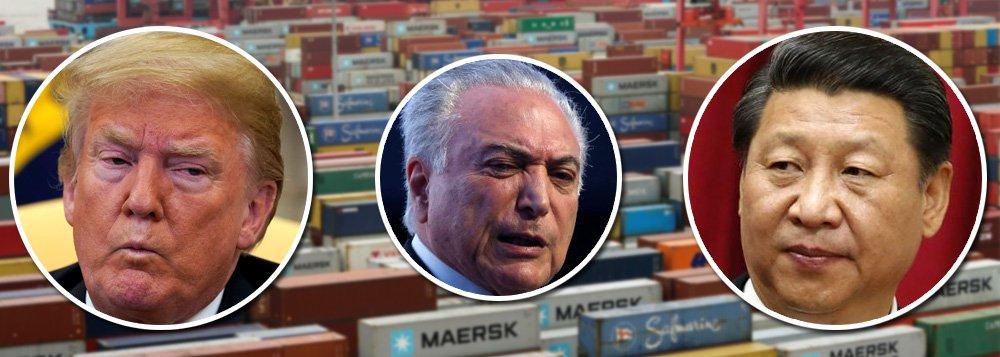 Começa guerra do século 21; China é maior parceiro do Brasil, mas golpistas vendem país aos EUA