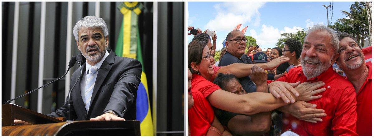 Não tem porque o PT pensar em outra alternativa que não seja Lula, diz Humberto