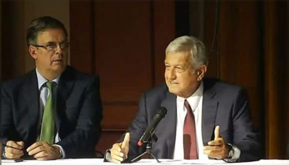 López Obrador apresenta futuro chanceler mexicano