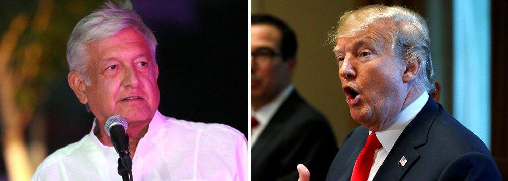 López Obrador convidará Trump para sua posse