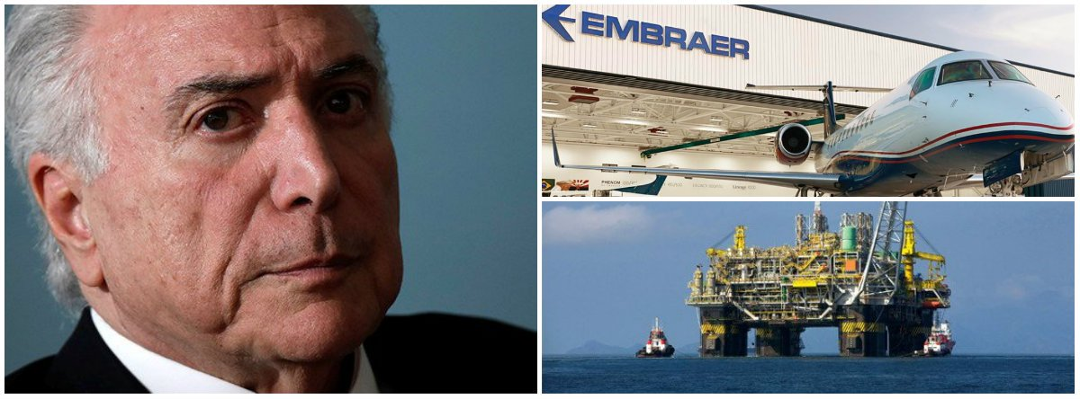 Tijolaço: na terra, mar e ar, vender o Brasil, e rápido, antes que acabe!