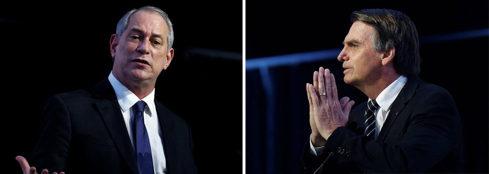 Na crise da democracia, elite do atraso vaia Ciro e aplaude Bolsonaro de pé na CNI