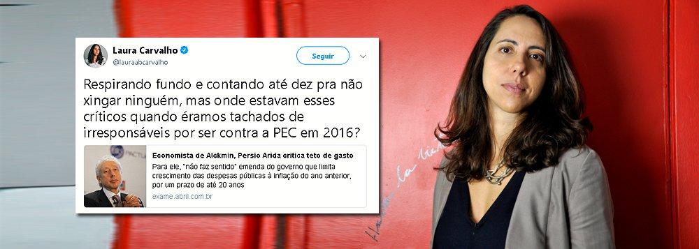 Persio Arida critica teto de gastos e Laura Carvalho responde: onde estava em 2016?