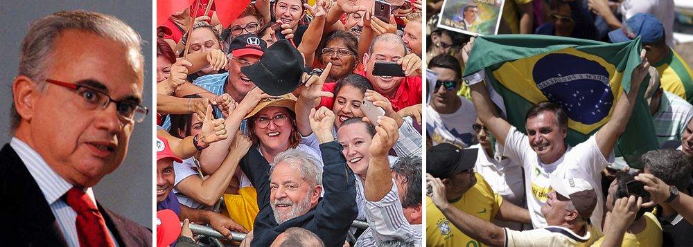 Coimbra: eleição será decidida entre o PT e Bolsonaro