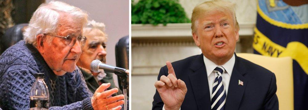 Chomsky: Trump não dá a mínima importância ao destino do mundo