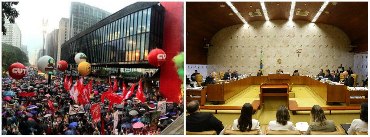 Centrais criticam decisão do STF de validar lei da 'reforma' trabalhista