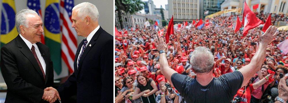 Artigo exclusivo de Lula: Temer e Pence são duas vergonhas políticas