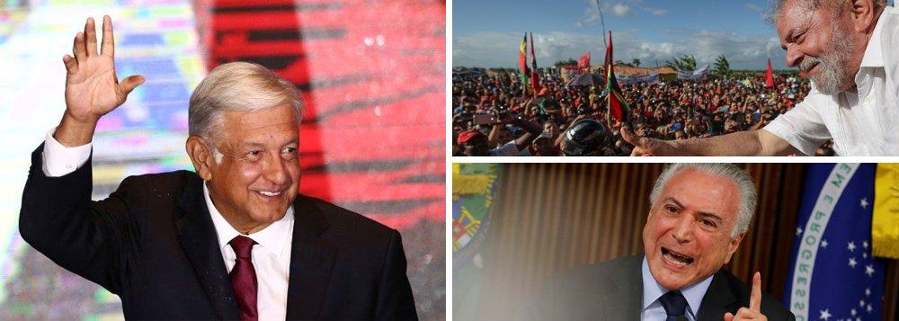 No México, democracia elege seu Lula; no Brasil do golpe, Lula preso