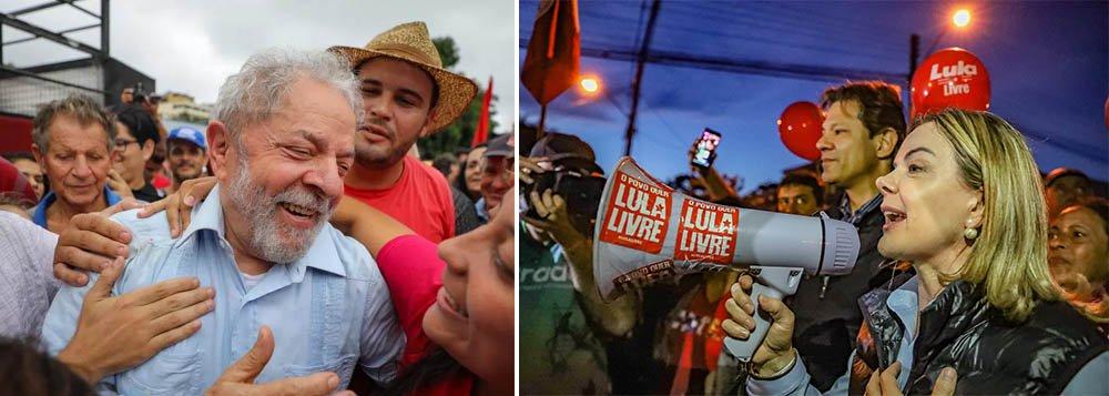 """Gleisi: """"não deixaremos o povo brasileiro na mão"""""""