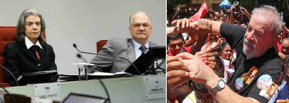 Engajados contra Lula, Carmen e Fachin votam juntos em 87% dos casos