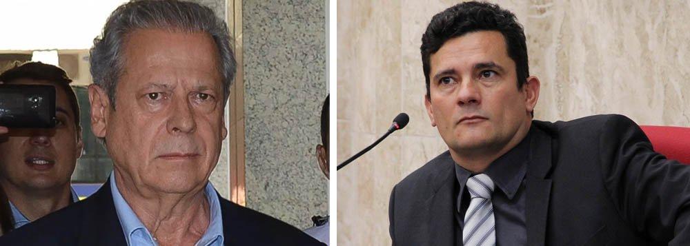 PT denuncia abuso de poder de Moro contra Dirceu