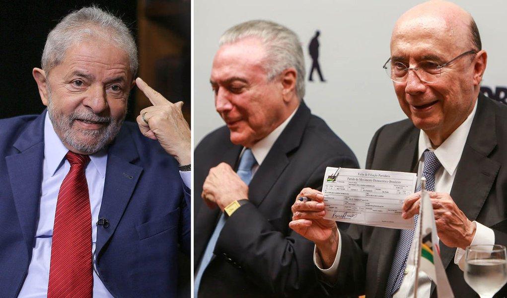Coautor da tragédia de Temer, Meirelles agora quer colar em Lula