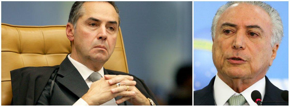 Barroso autoriza PF a seguir com inquérito sobre Temer no recesso