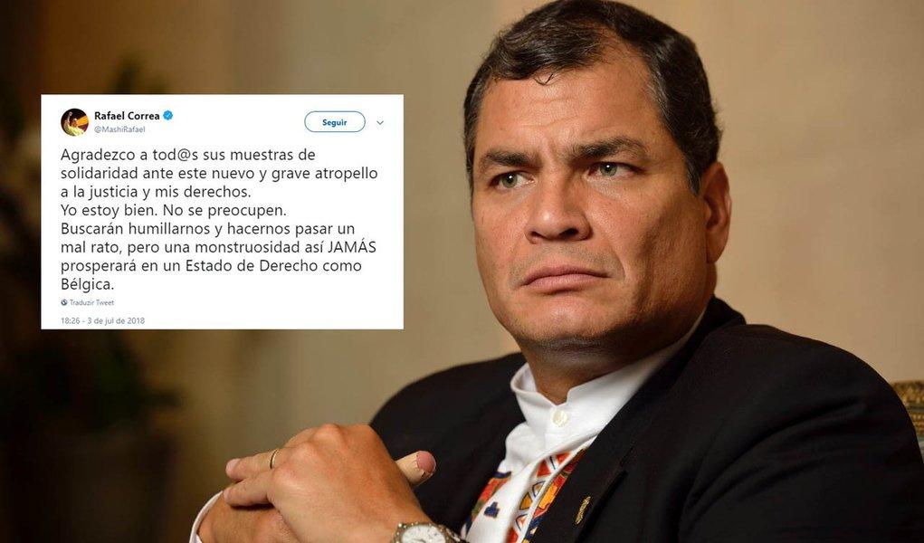 """Rafael Correa denuncia """"grave abuso"""" contra seus direitos"""