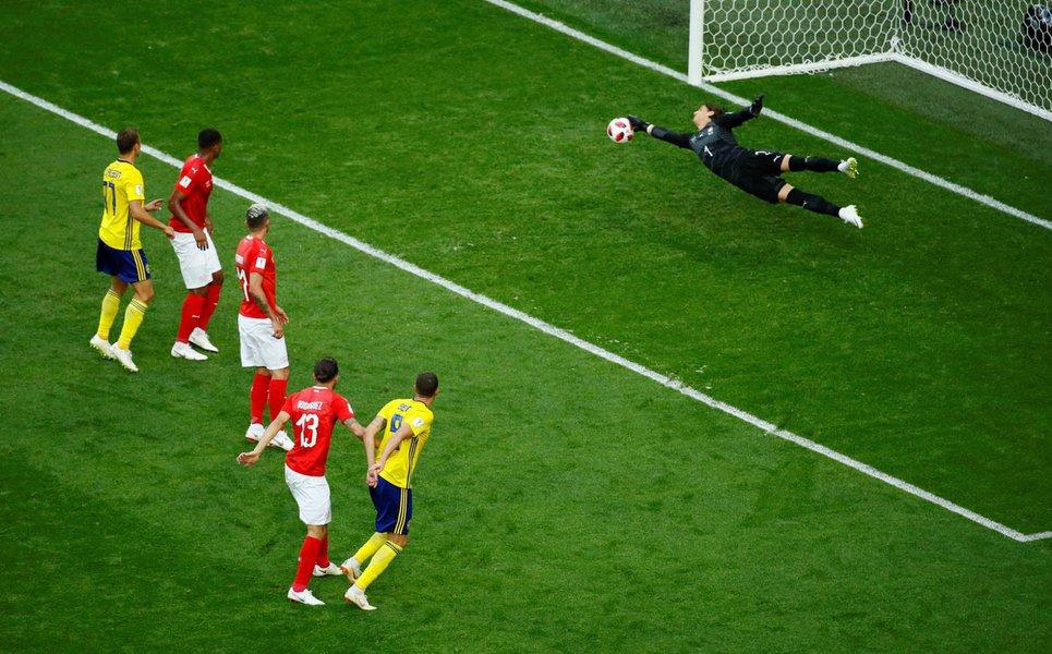 Suécia bate Suíça e avanças para as quarta de finais da Copa