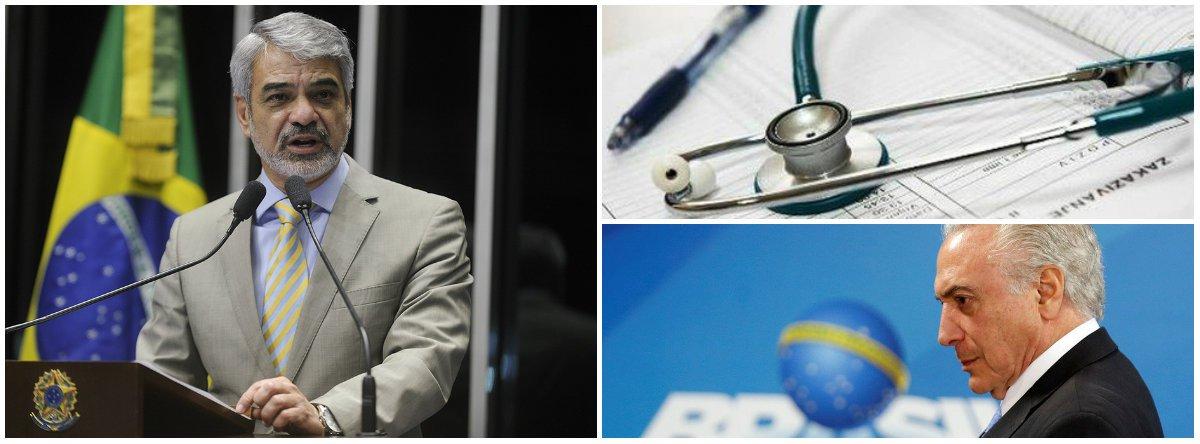Humberto apresenta projeto contra alta nos planos de saúde