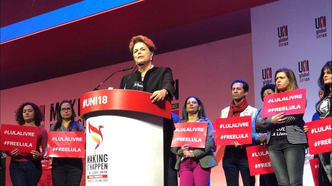 Dilma denuncia prisão política de Lula na Inglaterra
