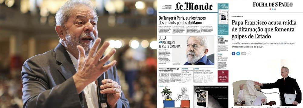 Manchetômetro: o dia em que os jornais quiseram esconder Lula e o papa Francisco