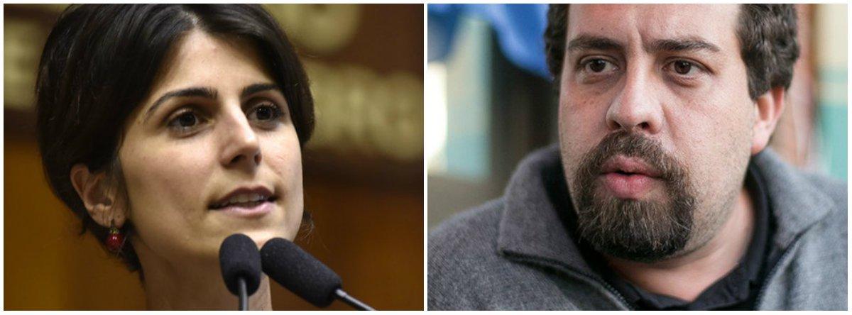 Manuela se solidariza com Boulos: estamos juntos na resistência
