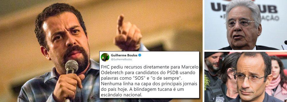 Boulos: blindagem da mídia ao PSDB é escandalosa
